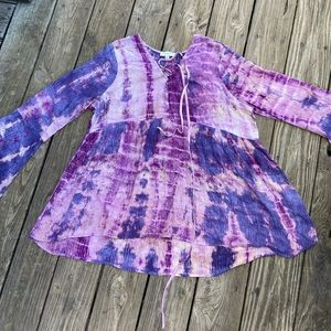 Umgee Tie Dye Blouse